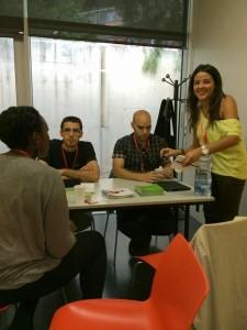 ibrugor en el I Encuentro de mujeres blogueras en barcelona