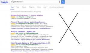 Google Adwords elimina los anuncios laterales